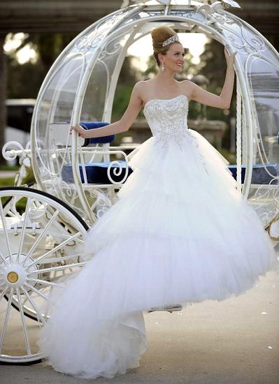 Princess Cinderella Wedding Dresses : Real life cinderella platinum by alfred